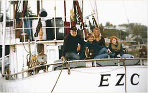 Our family aboard the EZC