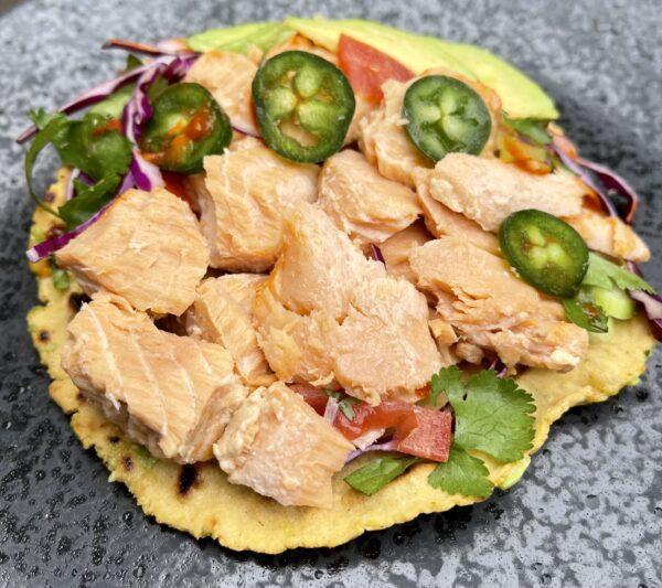 chinook salmon taco