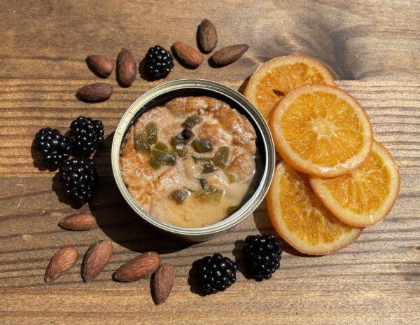 Jalapeno Garlic Albacore open can