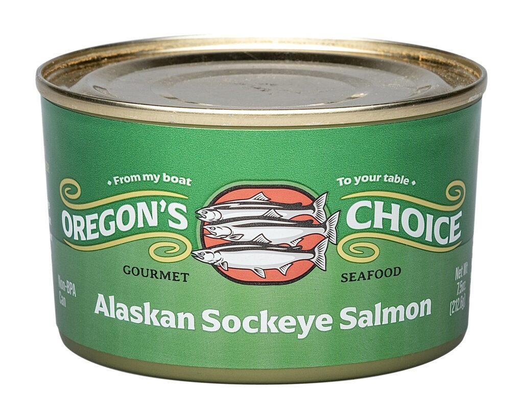 Alaskan Sockeye Red Salmon- Salted 7.5 oz.