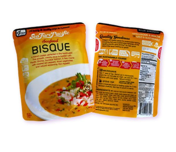 Gourmet Packaged Seafood Bisque