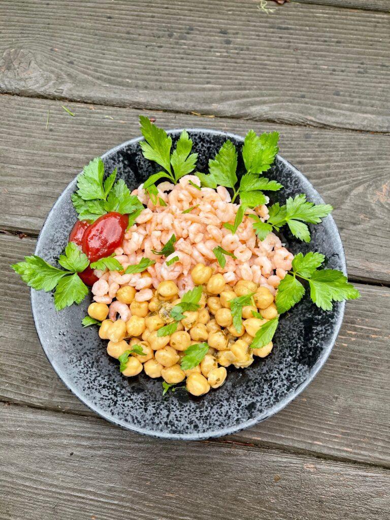 Shrimp Chickpea salad