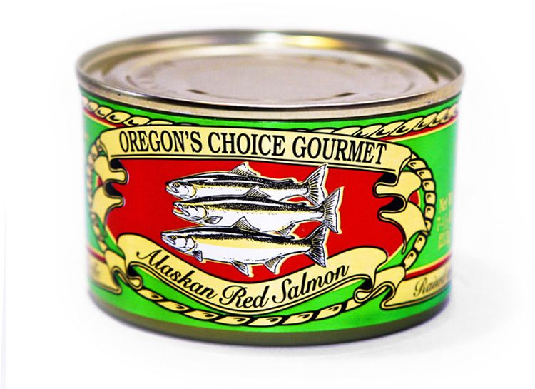 Alaskan Sockeye Red Salmon- Salted 7.5 oz.
