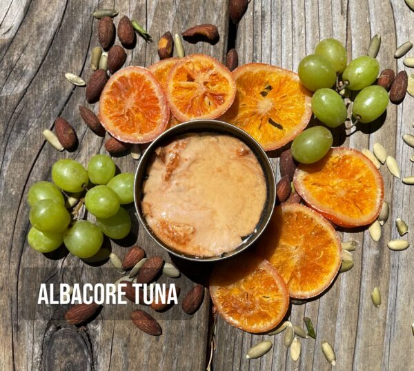Albacore tuna open can